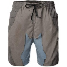 Anime Totoro Men's Beach Shorts Casual Classic Fit Drawstring Summer Beach Shorts with Elastic